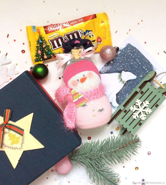 Новогодний подарок со  снеговиком и санками, Подарки, Москва, Фото №1