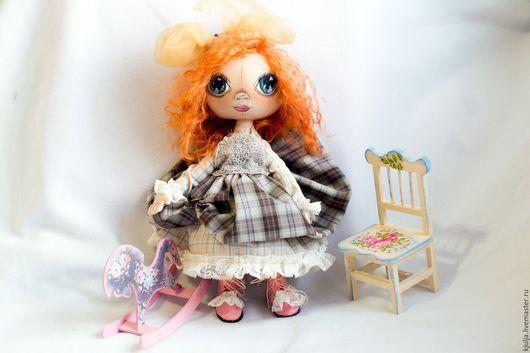 Коллекционные куклы ручной работы. Ярмарка Мастеров - ручная работа. Купить Машенька. Handmade. Коричневый, кукла в подарок, подарок