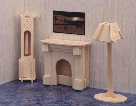 Куклы и игрушки ручной работы. Ярмарка Мастеров - ручная работа. Купить Сборная модель часы и лампа. Handmade. Мебель