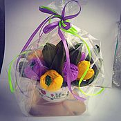 Сувениры и подарки handmade. Livemaster - original item A candy bouquet in a mug. Handmade.