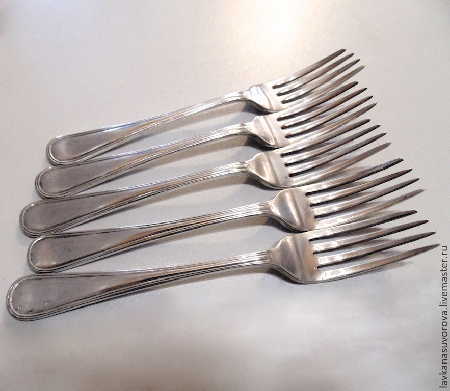 FORKS 5 PCs silver England 19th century, Vintage Cutlery, Rostov-on-Don,  Фото №1