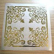 Штампы ручной работы. Ярмарка Мастеров - ручная работа Золотой стикер № 1182. Handmade.