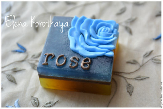 """Мыло ручной работы. Ярмарка Мастеров - ручная работа. Купить """"Голубая роза"""" Мыло ручной работы. Handmade. Голубая роза"""