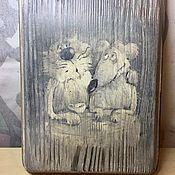 Для дома и интерьера ручной работы. Ярмарка Мастеров - ручная работа Досочка разделочная/панно. Handmade.
