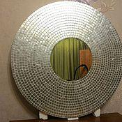 Для дома и интерьера ручной работы. Ярмарка Мастеров - ручная работа Зеркало в мозаичной раме, серебро. Handmade.