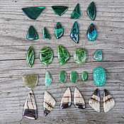 Материалы для творчества handmade. Livemaster - original item Cabochons malachite, chrome-diopside, prehnite, chrysoprase. Handmade.
