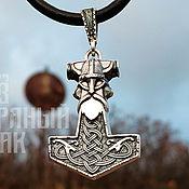 Украшения handmade. Livemaster - original item Amulet Thor`s Hammer. Mjollnir. Silver 925 art.1010801. Handmade.
