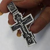 """Украшения ручной работы. Ярмарка Мастеров - ручная работа Крест """"Спаси и сохрани"""". Handmade."""