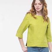 handmade. Livemaster - original item Apple blouse made of 100% linen. Handmade.