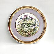 Посуда handmade. Livemaster - original item Porcelain painting Dish - tray Water meadows. Handmade.