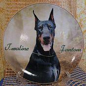 Посуда ручной работы. Ярмарка Мастеров - ручная работа Тарелочки декоративные с собаками по фото владельца. Handmade.