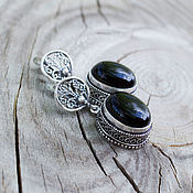 Украшения handmade. Livemaster - original item Earrings with black onyx