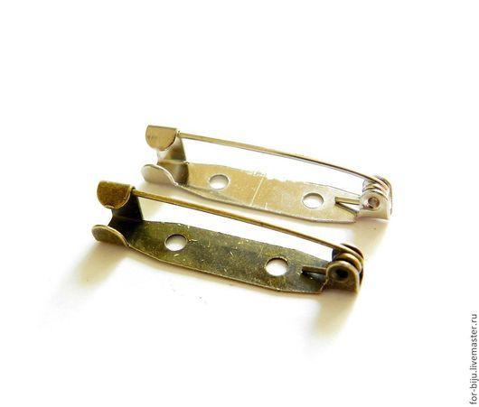Булавка основа для броши 30*5*6 мм,  цвет стальной, бронзовый (арт. 1440)