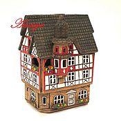 Для дома и интерьера ручной работы. Ярмарка Мастеров - ручная работа Домик подсвечник из керамики. Handmade.