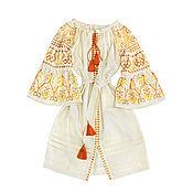"Одежда handmade. Livemaster - original item Embroidered Boho style dress ""Airy fantasy"". Handmade."