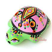 """Музыкальные инструменты handmade. Livemaster - original item Hand-made clay Ocarina (Tin whistle) """"Turtle"""".Exclusive whistle. Handmade."""