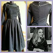 Одежда handmade. Livemaster - original item Dress wool collar. Handmade.