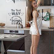 Пижамы ручной работы. Ярмарка Мастеров - ручная работа Атласная пижама ручной работы. Handmade.
