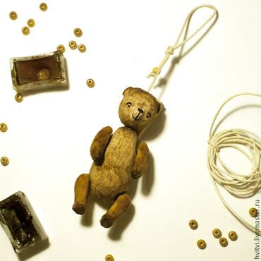 тедди мишка деревянный