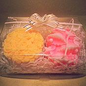Косметика ручной работы. Ярмарка Мастеров - ручная работа Набор мыла овал с розами+колокольчик. Handmade.