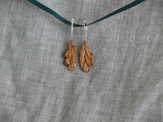 Серьги ручной работы. Ярмарка Мастеров - ручная работа. Купить Серьги деревянные. Handmade. Серьги, растительный орнамент, деревянные украшения