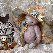 """Куклы и игрушки ручной работы. Ярмарка Мастеров - ручная работа """"Воспоминания о лавандовых полях...""""мишка в шляпке. Handmade."""
