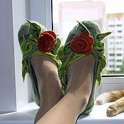 Обувь ручной работы handmade. Livemaster - original item Slipper Roses. Handmade.