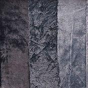 Материалы для творчества ручной работы. Ярмарка Мастеров - ручная работа Плюш винтажный Серый вискозный темный. Handmade.
