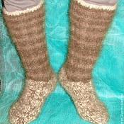 Аксессуары handmade. Livemaster - original item Socks – knitted socks feather art. No. №28m 3 canine cher. Handmade.