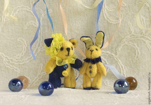 Мишки Тедди ручной работы. Ярмарка Мастеров - ручная работа. Купить Друзья Тотти и Поппи. Handmade. Разноцветный, мишка тедди