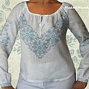 Одежда ручной работы. Ярмарка Мастеров - ручная работа блуза с ручной вышивкой Дзвинка. Handmade.