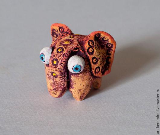 Миниатюрные модели ручной работы. Ярмарка Мастеров - ручная работа. Купить Слон керамический Элефант. Фигурка слона, статуэтка слона. Handmade.