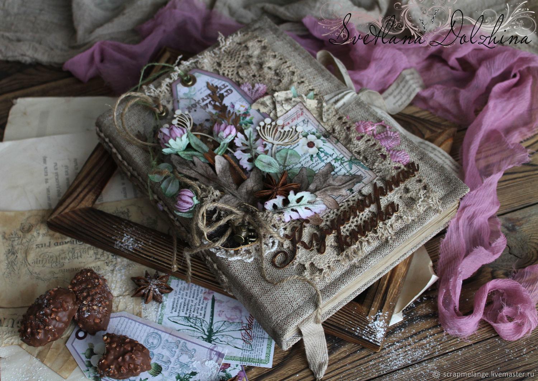 """Книга рецептов """"Розовый клевер"""" винтаж коричневый арома, Книги для рецептов, Тюмень,  Фото №1"""