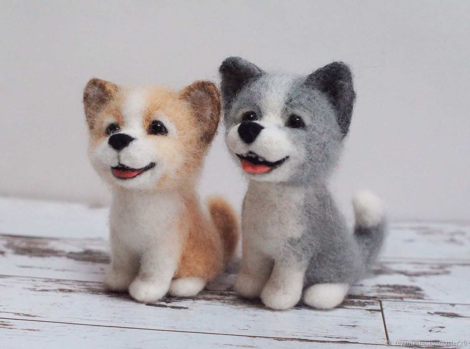 Little Toy Dogs : Funny little dog toy felted wool shop online on
