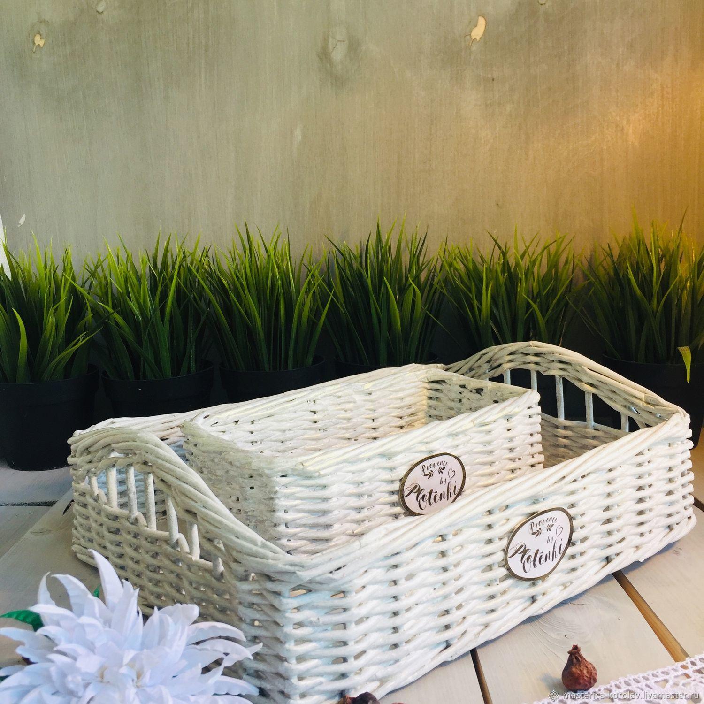 Набор плетеный поднос и корзинка для специй, Корзины, Москва,  Фото №1