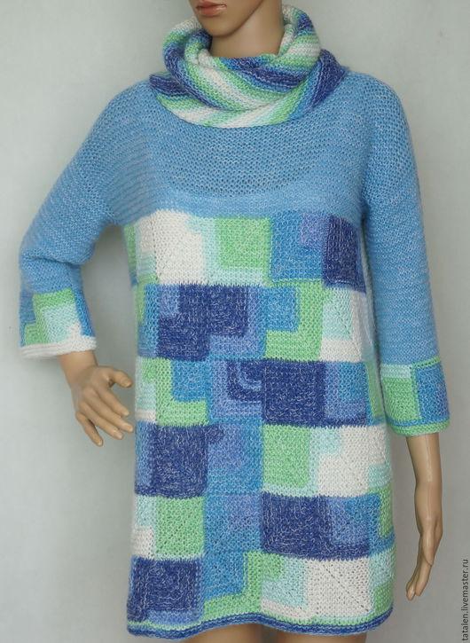 """Кофты и свитера ручной работы. Ярмарка Мастеров - ручная работа. Купить Пуловер пэчворк альпака-мохер-меринос """"Микс1"""". Handmade."""