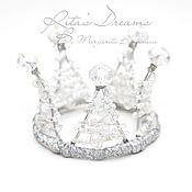 Работы для детей, ручной работы. Ярмарка Мастеров - ручная работа Корона Королева Снежинок маленькая для принцессы снежная королева снег. Handmade.