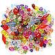41 шт., Акриловые бусины прозрачные (биконус, шарик, кубик), Бусины, Туймазы,  Фото №1