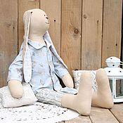 Куклы и игрушки ручной работы. Ярмарка Мастеров - ручная работа Заяц тильда сплюшка большой. Handmade.