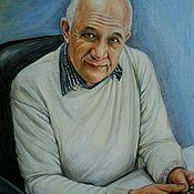 Картины и панно ручной работы. Ярмарка Мастеров - ручная работа Портрет цветными карандашами по фото в стиле гиперреализм.. Handmade.