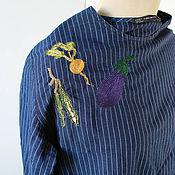 Винтаж ручной работы. Ярмарка Мастеров - ручная работа Блуза от Zara c аппликацией. Handmade.