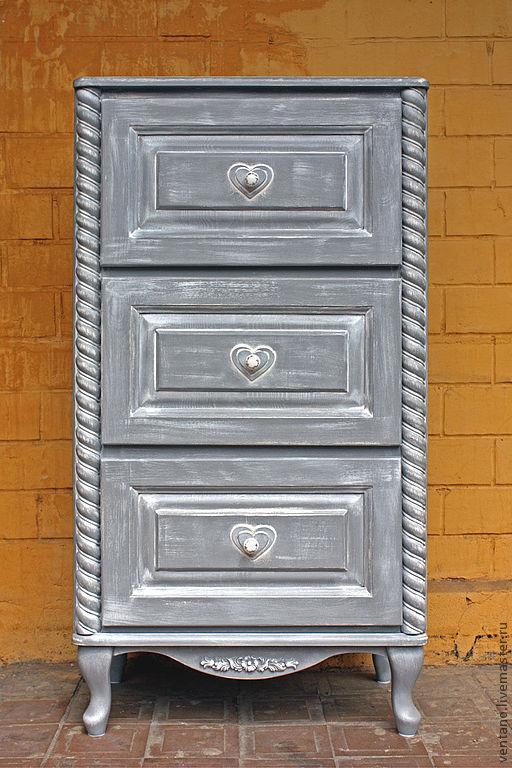 """Мебель ручной работы. Ярмарка Мастеров - ручная работа. Купить Комод """"Прованс"""". Handmade. Серый, детская, интерьерное украшение"""