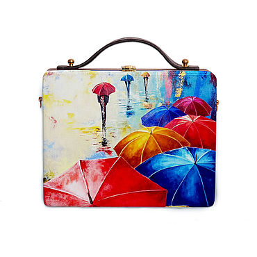 Bags and accessories handmade. Livemaster - original item Women`s bag made of wood with painting, for autumn. Handmade.