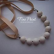Украшения handmade. Livemaster - original item Necklace Bianco. Handmade.
