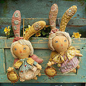 Куклы и игрушки ручной работы. Ярмарка Мастеров - ручная работа Мартовские зайчики. Handmade.
