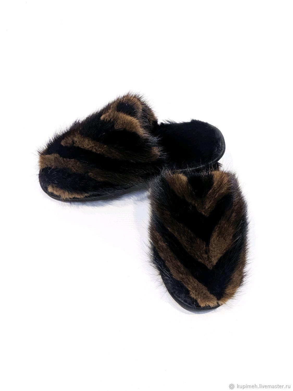Women's mink Slippers, Slippers, Nalchik,  Фото №1