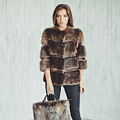 Одежда handmade. Livemaster - original item Beaver real fur jacket // Beaver real fur coat. Handmade.