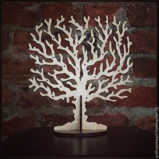 Элементы интерьера ручной работы. Ярмарка Мастеров - ручная работа. Купить Декоративное дерево для украшений. Handmade. Бежевый, коралл, фанера