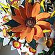 Интерьерные композиции ручной работы. Солнечный цветок - подсолнух. Анна Чепелева. Ярмарка Мастеров. Подарок на любой случай