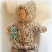 Работы для детей, ручной работы. Ярмарка Мастеров - ручная работа Комплект для малыша Капучино. Handmade.